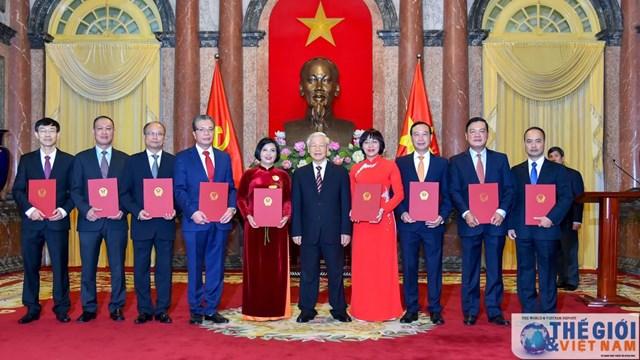 12 tân Đại sứ Việt Nam tại nước ngoài vừa được bổ nhiệm