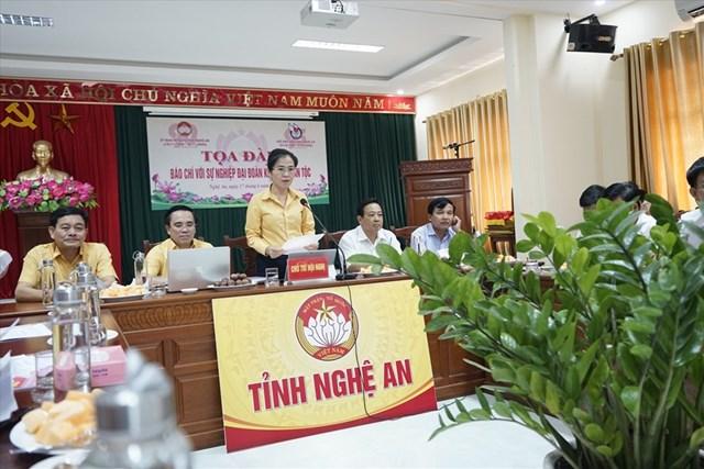 """1.Ủy ban MTTQ tỉnh Nghệ An tổ chức tọa đàm """"Báo chí với sự nghiệp Đại đoàn kết toàn dân tộc"""" nhân kỷ niệm 95 năm Ngày Báo chí cách mạng Việt Nam."""