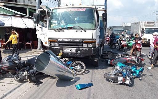Một vụ tai nạn giao thông trên Quốc lộ 1.