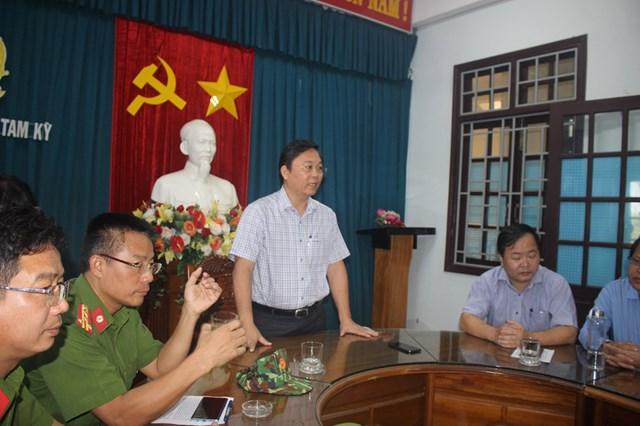 Ông Lê Trí Thanh, Chủ tịch UBND tỉnh Quảng Nam phát biểu tại buổi lễ.