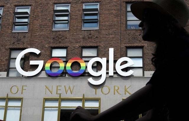 Biểu tượng Google tại New York, Mỹ. Ảnh: AFP/TTXVN.