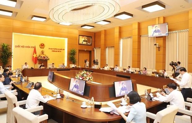 Quang cảnh một phiên họp của Ủy ban Thường vụ Quốc hội. (Ảnh: Trọng Đức/TTXVN)