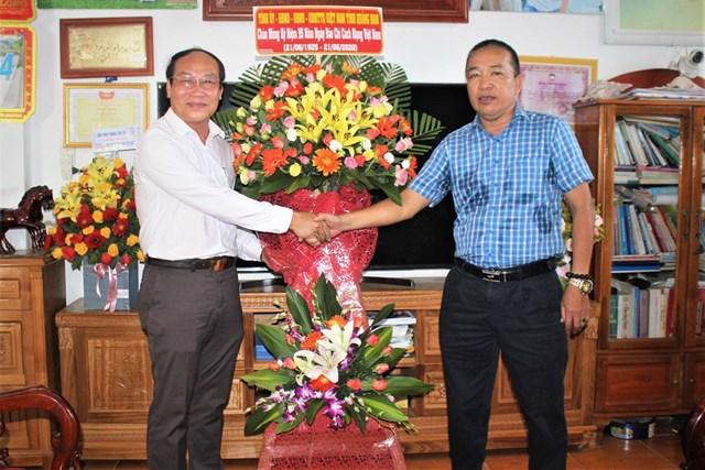 Lãnh đạo Ủy ban MTTQ VN tỉnh Quảng Nam thăm VP báo Đại Đoàn Kết tại Quảng Nam, Quảng Ngãi.