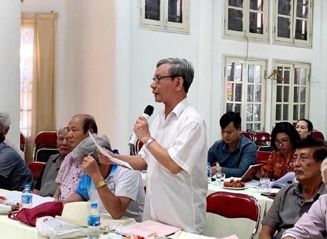 Các thành viên CLB tham gia đóng góp ý kiến tại hội nghị  (Ảnh: Cổng TTĐT TP Hà Nội).
