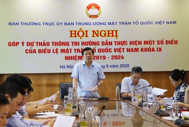 Phó Chủ tịch Nguyễn Hữu Dũng phát biểu tại hội nghị. Ảnh: Hương Diệp.