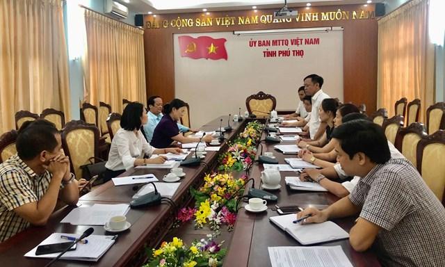 Phó Chủ tịch Trương Thị Ngọc Ánh phát biểu tại MTTQ tỉnh Phú Thọ.