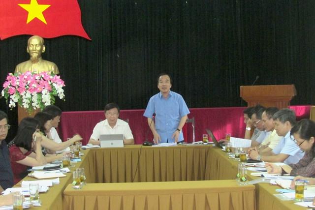 Ông Ngô Sách Thực, Phó Chủ tịch UBTƯ MTTQ Việt Nam phát biểu kết luận buổi làm việc.