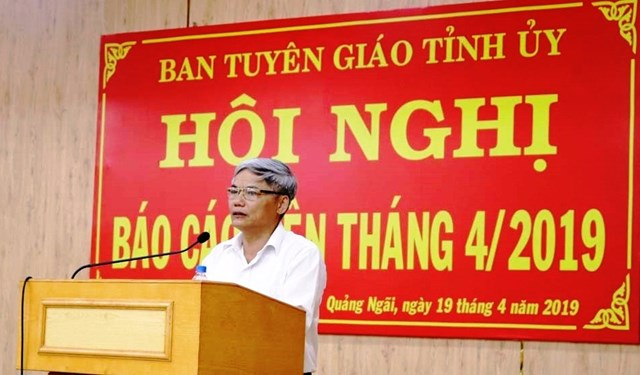 Ông Võ Văn Hào, Trưởng ban Tuyên giáo Tỉnh ủy Quảng Ngãi.