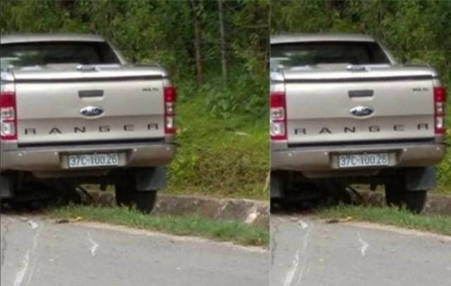 Chiếc xe bán tải gây tai nạn khiến chị H. tử vong