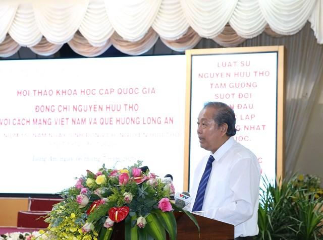Phó Thủ tướng Thường trực Chính phủ Trương Hòa Bình phát biểu tại Hội thảo.