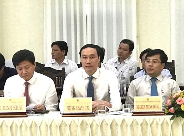 Phó Chủ tịch UBTƯ MTTQ Việt Nam Phùng Khánh Tài tham dự Hội thảo.