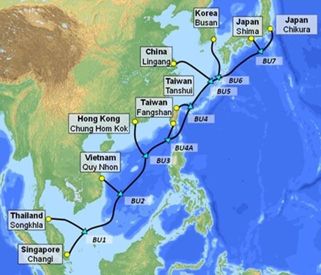 VNPT cùng các Tập đoàn quốc tế đầu tư cáp biển SJC2 dài 10500 km.
