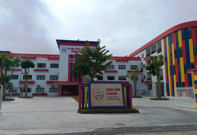 Một góc Trường liên cấp song ngữ Quốc tế Quảng Nam Academy.