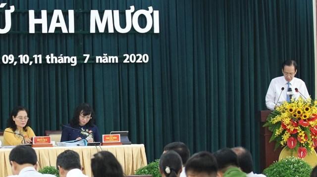Quang cảnh phiên khai mạc kỳ họp thứ 20 HĐND TP HCM khóa IX.