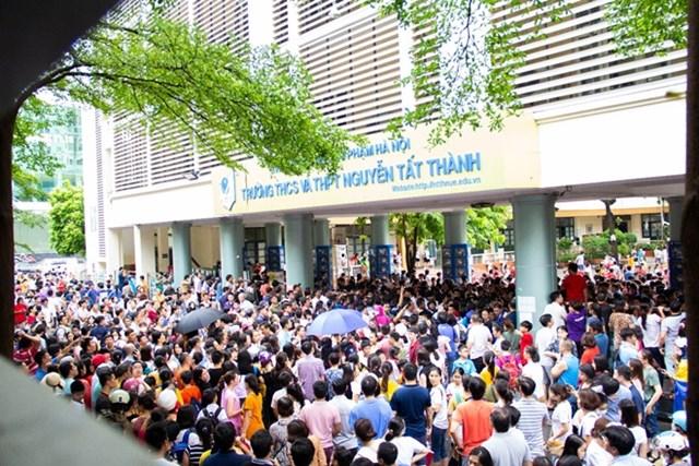 Học sinh dự tuyển vào lớp 6 trường THCS- THPT Nguyễn Tất Thành.