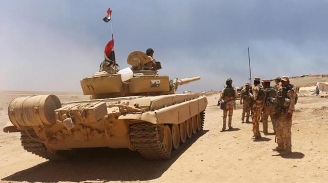 Lực lượng quân đội Iraq. Nguồn: AP.