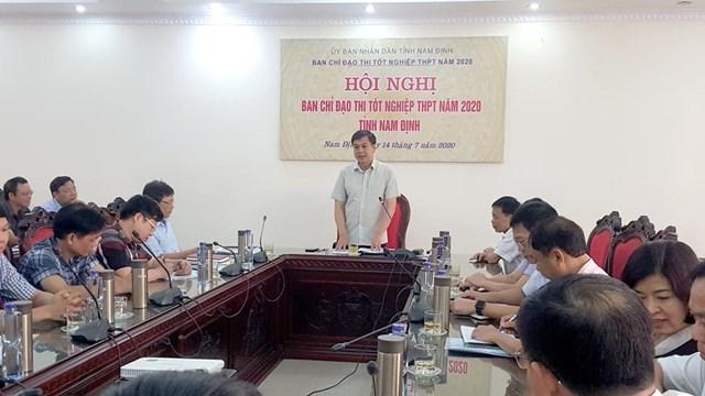 Cuộc họp do Phó Chủ tịch UBND tỉnh Nam Định Trần Lê Đoài chủ trì.