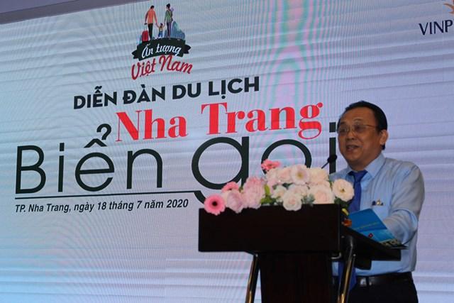 Ông Lê Hữu Hoàng, Phó Chủ tịch UBND tỉnh Khánh Hòa phát biểu tại Hội nghị.