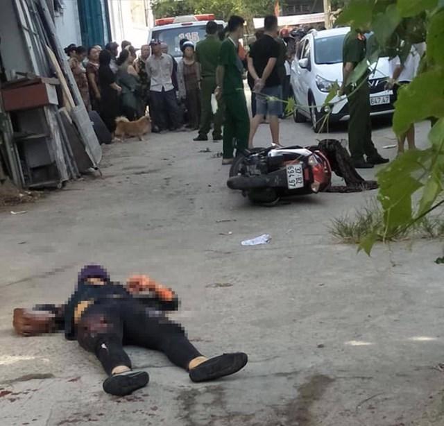 Hiện trường vụ án mạng xảy ra vào sáng ngày 27/7 tại TP Vinh.