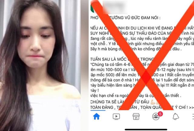 Ca sĩ Hòa Minzy bị xử phạt 7,5 triệu đồng vì chia sẻ phát ngôn giả mạo Phó Thủ tướng.