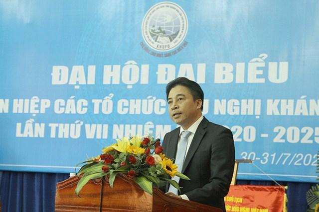 Ông Nguyễn Khắc Toàn. Phó Bí thư Thường trực Tỉnh ủy Khánh Hòa phát biểu tại đại hội.