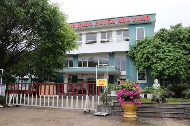 Trung tâm y tế (Bệnh viện đa khoa) huyện Hòa Vang được trưng dụng làm Bệnh viện dã chiến. Ảnh: Bình Nguyên.