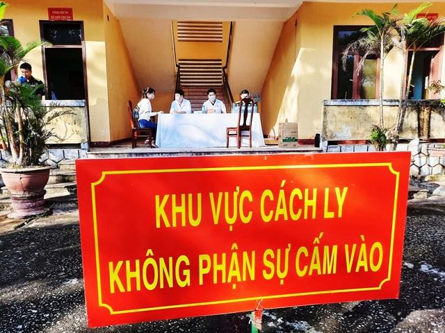 Một nơi cách ly tập trung tại Quảng Nam.