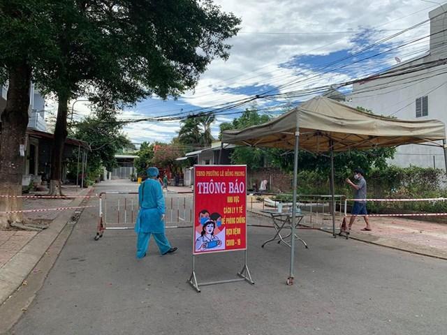 Ngành y tế Quảng Ngãi phong tỏa hẻm 54/1 đường Trần Công Hiến.