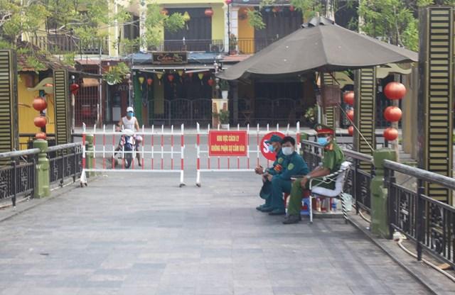 Một khu phong tỏa ở Quảng Nam để phòng, chống dịch Covid-19.