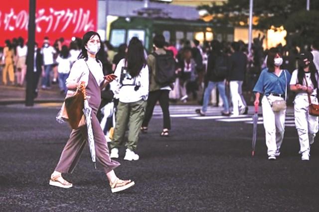 Đường phố Tokyo (Nhật Bản) mùa CovidẢnh: AFP.