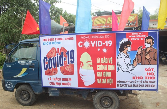 Quảng Nam tăng cường tuyên truyền phòng chống dịch Covid-19.