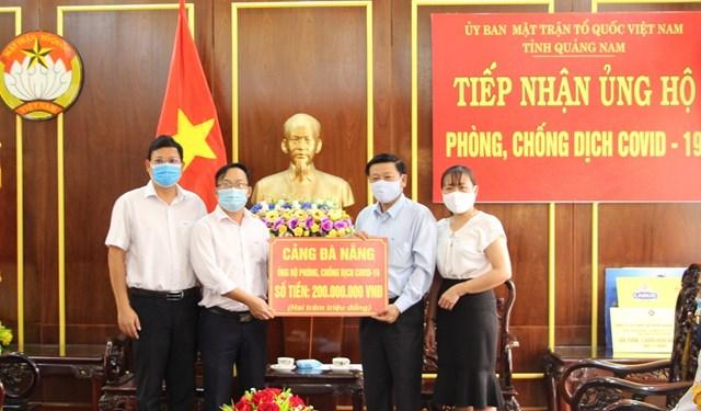 Cảng Đà Nẵng ủng hộ 200 triệu đồng cho tỉnh Quảng Nam phòng chống dịch Covid-19.
