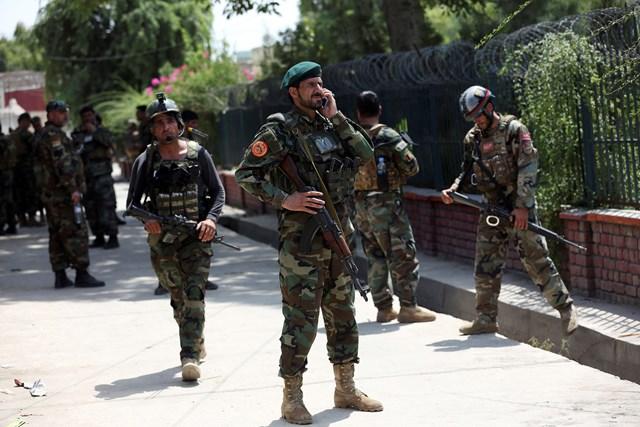Lực lượng an ninh Afghanistan.