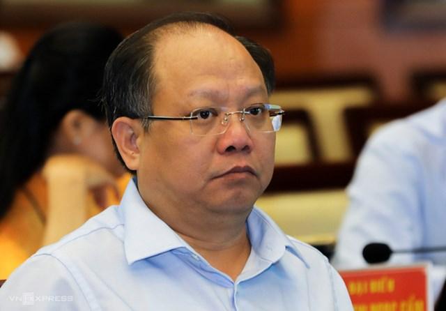 Ông Tất Thành Cang tại kỳ họp HĐND TP HCM ngày 9/12/2019. Ảnh: Quỳnh Trần.