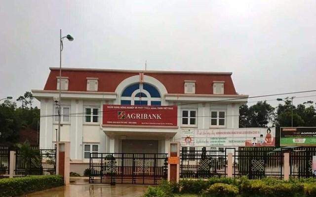 Trụ sở Agribank chi nhánh huyện Tuy Đức nơi một lãnh đạo xin phép nghỉ do bận việc gia đình.
