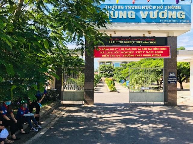 Một điểm thi tốt nghiệp THPT năm 2020 tại TP Quy Nhơn, tỉnh Bình Định.