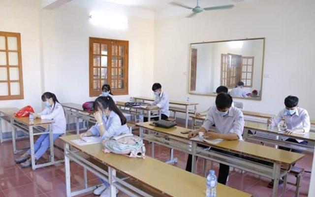 8 thí sinh liên quan dịch covid-19 được tỉnh Thái Bình bố trí dự thi trong phòng riêng.
