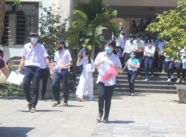 Các thí sinh dự thi tốt nghiệp THPT năm 2020 ở Quảng Nam.