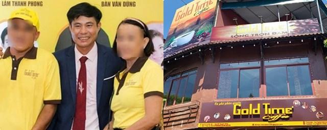 Nguyễn Khắc Đồi (đứng giữa bìa trái) đã lập ra công ty Gold Time để lừa đảo nhiều người, chiếm đoạt tài sản.