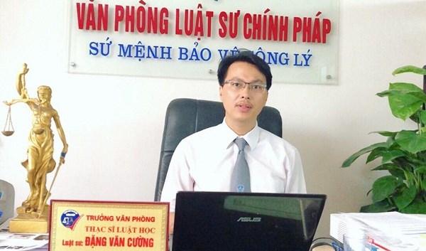 Luật sư Đặng Văn Cường, Trưởng văn phòng Luật sư Chính Pháp, Đoàn Luật sư Hà Nội