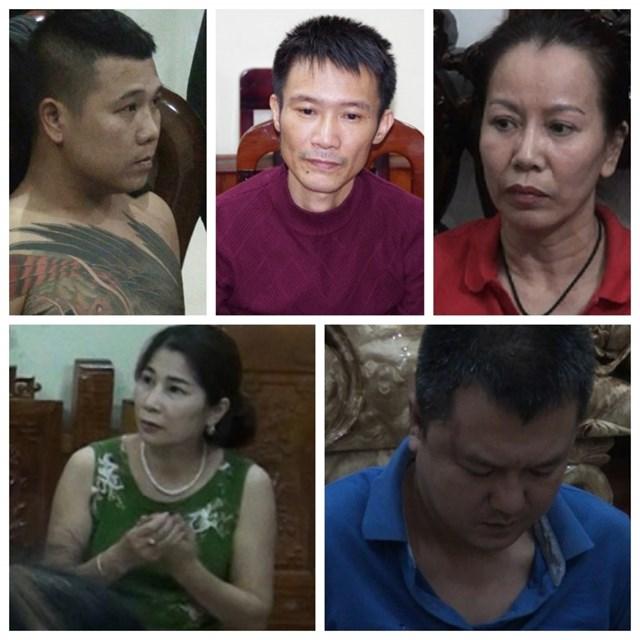 Các đối tượng trong đường dây đánh bạc lớn nhất từ trước đến nay ở Hà Giang.
