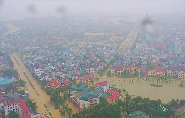 Một góc thành phố Huế trong chiều 11/10. Ảnh Hue S.