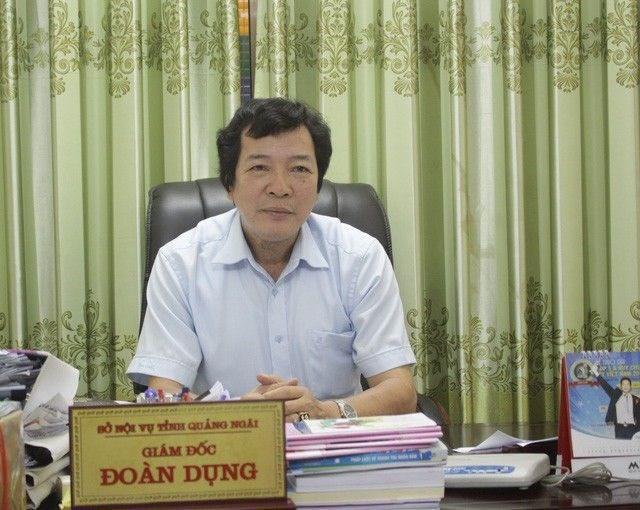 Ông Đoàn Dụng, giám đốc Sở Nội vụ tỉnh Quảng Ngãi.