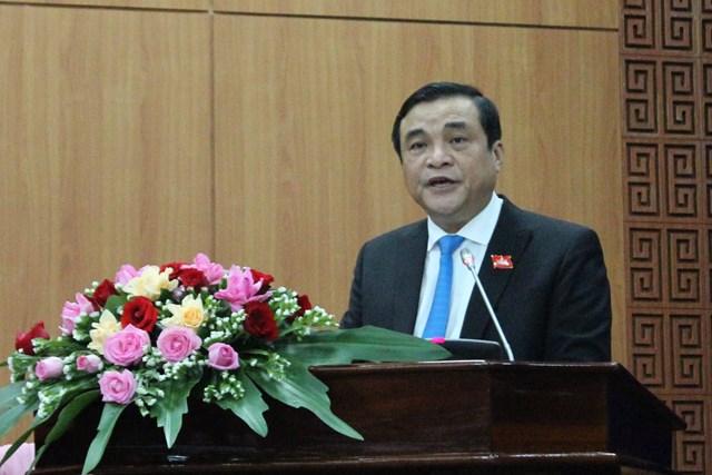 Ông Phan Việt Cường, Bí thư Tỉnh ủy phát biểu khai mạc tại kỳ họp.