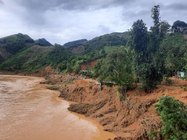 Một đoạn sông R'lang nơi xảy ra vụ việc.