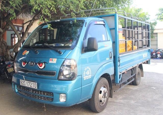 Chiếc xe tải BKS: 92C-172.10 gây tai nạn.