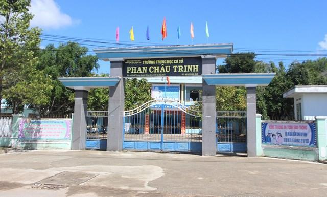Ngôi trường THCS Phan Châu Trinh nơi cô Hòa đang giảng dạy.