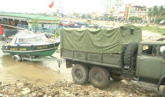 Bộ đội Biên phòng Quảng Bình sẵn sàng các phương án ứng phó với bão số 5.