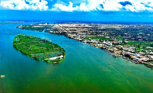 [ẢNH] Đồng bằng sông Cửu Long nhìn từ trên cao  - Ảnh 1