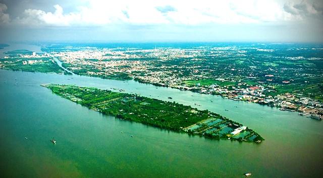 [ẢNH] Đồng bằng sông Cửu Long nhìn từ trên cao  - Ảnh 2